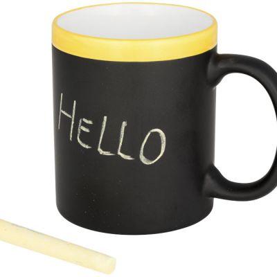 Tazza personalizzabile con gessetto. Questa tazza può essere personalizzata scrivendo con un gessetto sulla finitura della superficie. Il gesso è incl