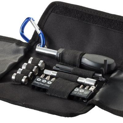 Set utensili 19 pezzi, nero / blue