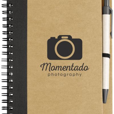 Notebook con penna carta riciclata