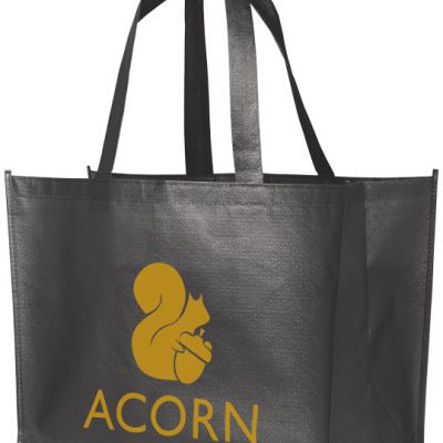 Shopper per la spesa laminata Alloy. Una borsa per la spesa leggera e flessibile con aspetto metallico laminato e lucido
