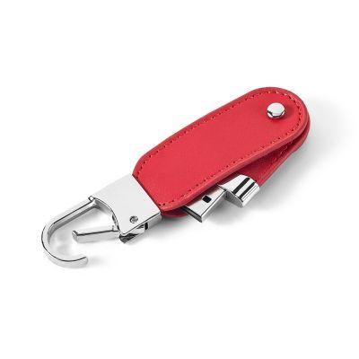 Chiavetta USB fino a 32GB in pelle artificiale con moschettone