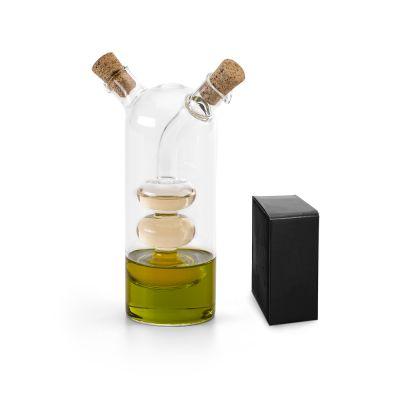CHARLES Oliera doppia in vetro con capacità fino a 50 ml + 250 ml