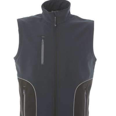 Gilet in soft shell a due strati impermeabile