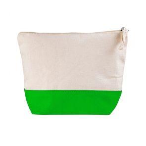 Pochette bicolore utrusta con cerniera cotone