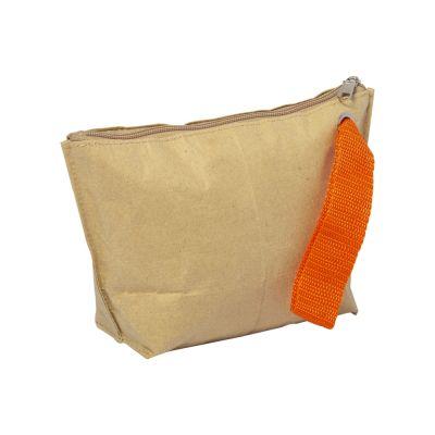 Belogorka Pochette con chiusura zip. Con nastro colorato in poliestere