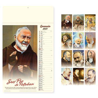 Calendario San Pio mensile12 fogli carta avorio