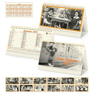 Calendario Come eravamo spiralato da tavolo mensile 13 fogli carta avorio