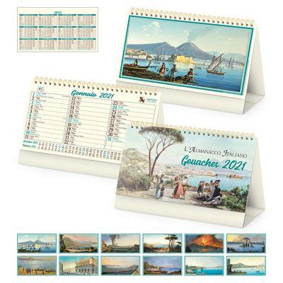 Calendario spiralato da tavolo mensile 13 fogli carta avorio