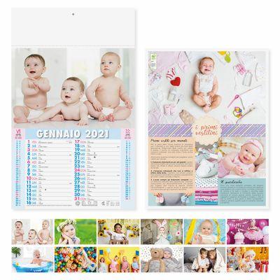 Calendario illustrato Bambini mensile 12 fogli carta patinata