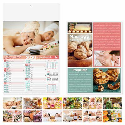 Calendario illustrato Benessere e Salute mensile 12 fogli carta patinata