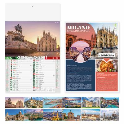 Calendario illustrato Citta D'Italia 12 fogli mensile carta patinata