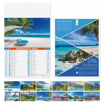 Calendario illustrato Paesaggi mensile 12 fogli carta patinata