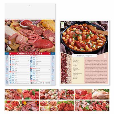 Calendario illustrato Carni 12 fogli mensile carta patinata
