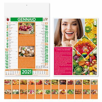 Calendario illustrato frutta e verdura mensile 12 fogli carta patinata