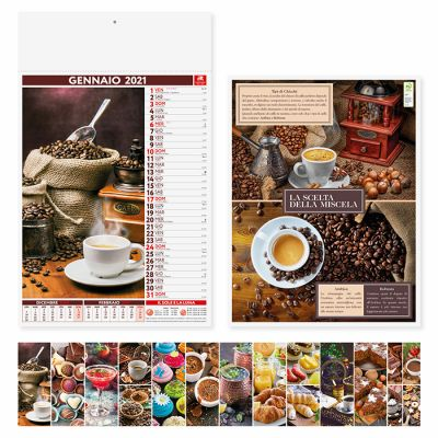 Calendario illustrato coffe & lounge bar 12 fogli mensile