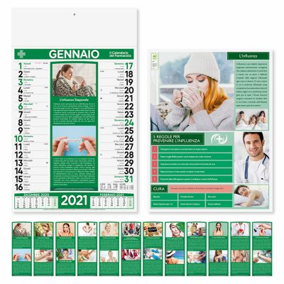 Calendario illustrato Farmacia mensile 12 fogli carta patinata