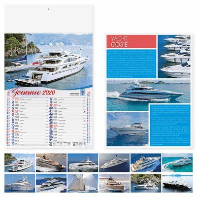 Calendario illustrato Yacht da sogno 12 fogli mensile carta patinata