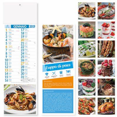 Calendario silhouette gastronomia mensile 12 fogli carta patinata