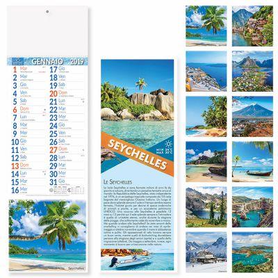 Calendario silhouette paesaggi mensile 12 fogli carta patinata