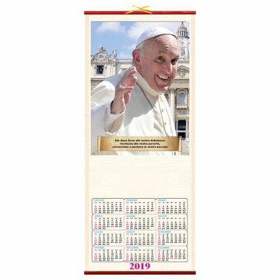 Calendario in canna Papa Francesco  32*75