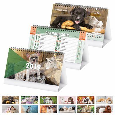 Calendario spiralato da tavolo mensile 13 fogli carta patinata