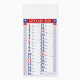 Calendario olandese mensile 12 fogli shaded