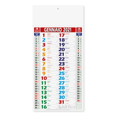 Calendario olandese shaded mensile 12 fogli