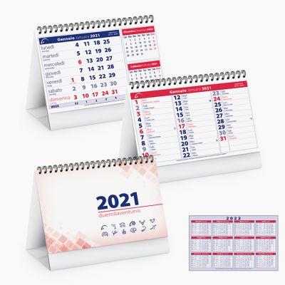 Calendario da tavolo spiralato mensile 13 fogli