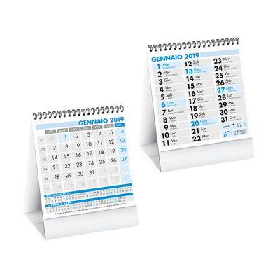 Calendarietto da tavolo spiralato mensile 12 fogli carta patinata