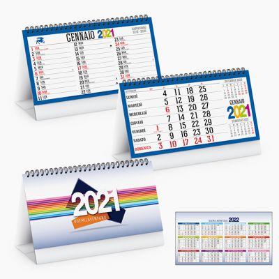 Calendario spiralato da tavolo mensile 13 fogli