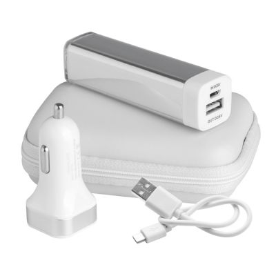 Set Ricarica - Power Bank 2600 mAh Portland