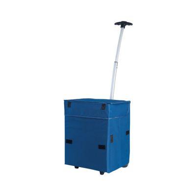 Trolley porta campionario chiusure in velcro laterali e frontali fondo rigido ribaltabile piedini in plastica rigida