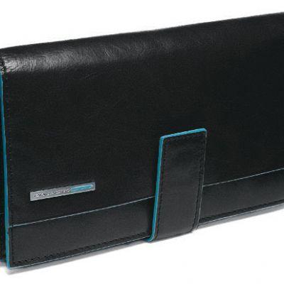 P.FOGLIO PIQUADRO DONNA P/MONETE E C/CARD 10x17,5x2,5 cm