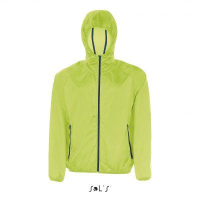 Giacca a vento Shore trendy dotata di colori alla moda e zip a contrasto, può essere piegata e riposta nella sua tasca.